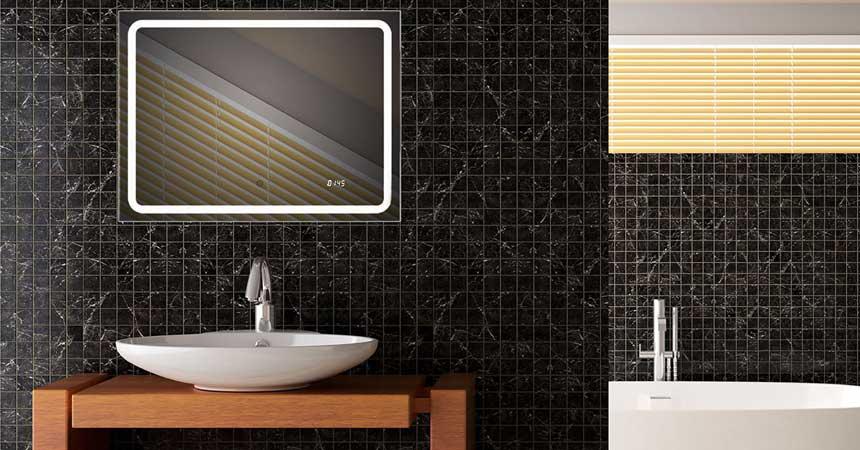 Badezimmerspiegel mit LED-Beleuchtung
